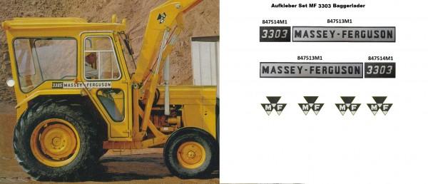 MASSEY FERGUSON 3303 INDUSTRIAL SET AUFKLEBER