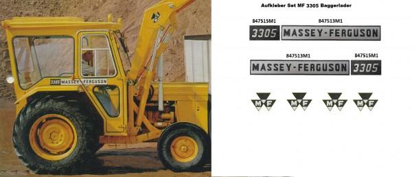MASSEY FERGUSON 3305 INDUSTRIAL SET AUFKLEBER